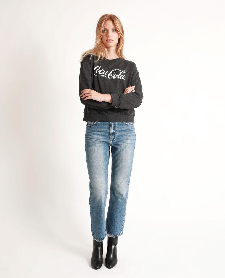 Felpa Coca-Cola grigio antracite
