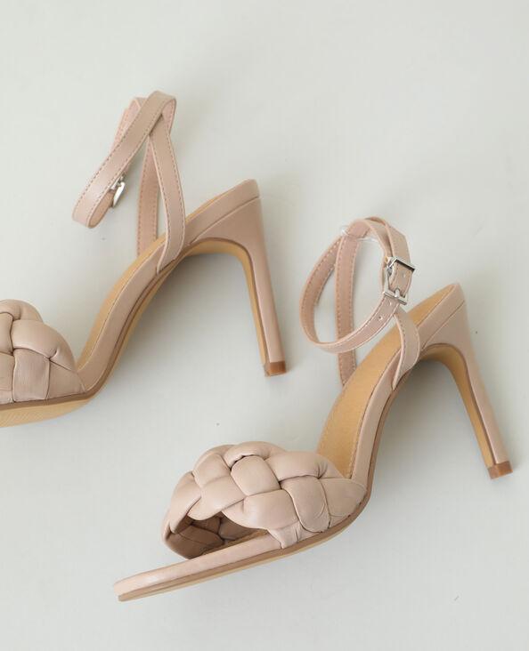 Sandali con tacco a spillo intrecciati rosa - Pimkie