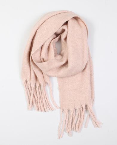 Sciarpa con frange rosa