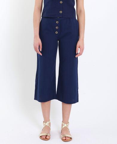 Pantalone cropped blu scuro