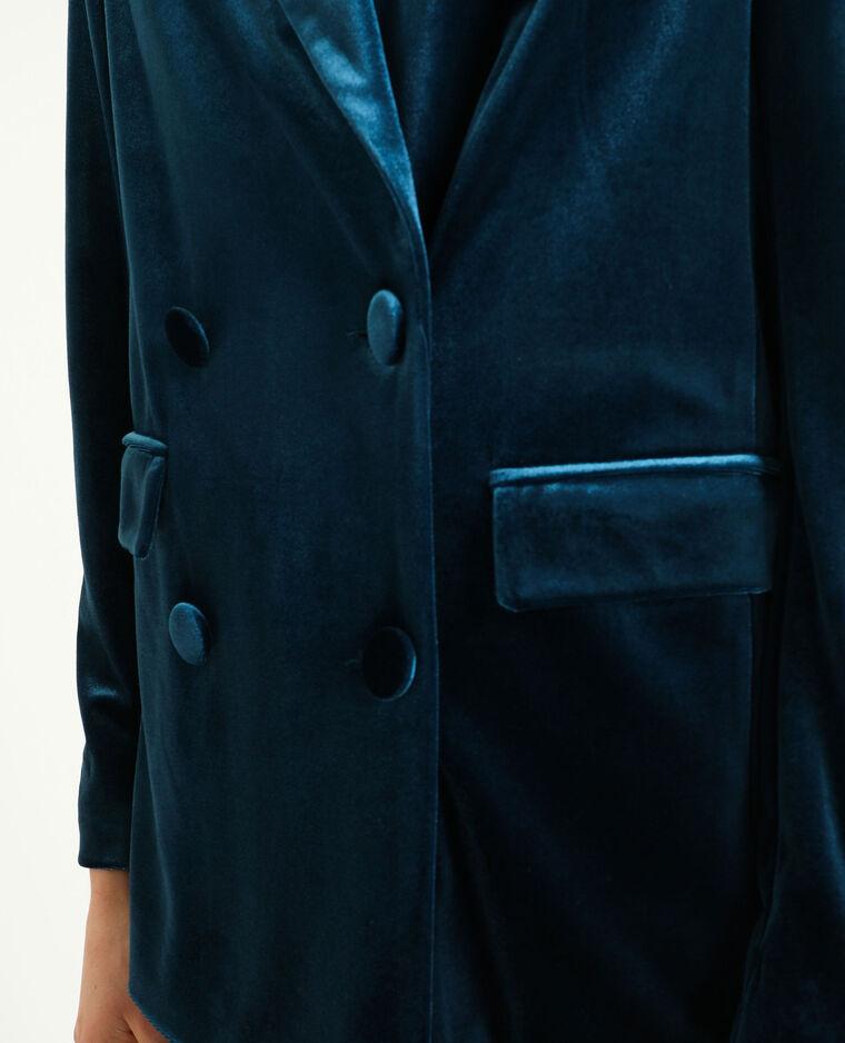 Giacca in velluto liscio nero