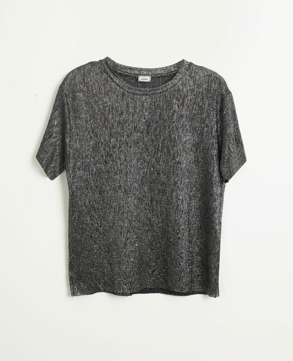 Top con paillettes grigio