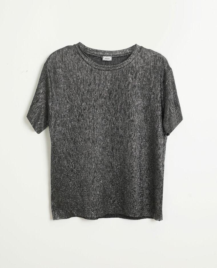 Top con paillettes grigio - Pimkie