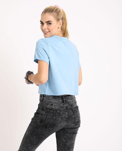 T-shirt corta turchese