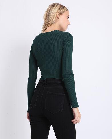 Cardigan corto verde