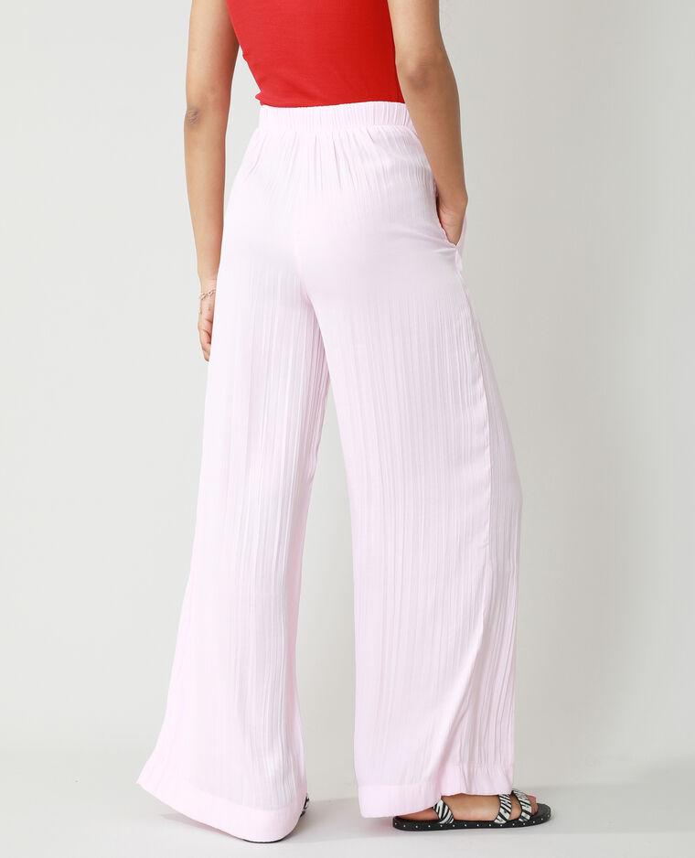Pantalone wide leg plissettato rosa - Pimkie
