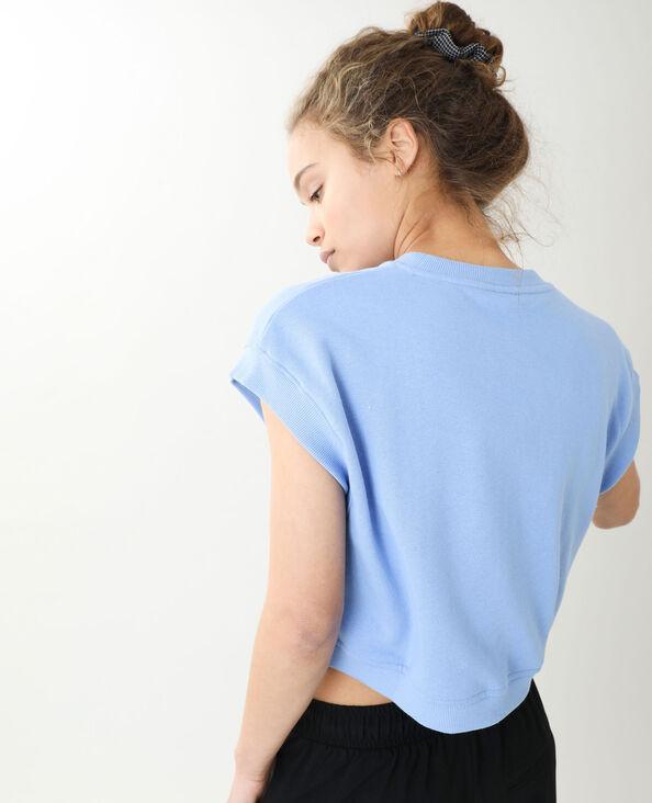 Top senza maniche in tessuto felpato blu chiaro - Pimkie