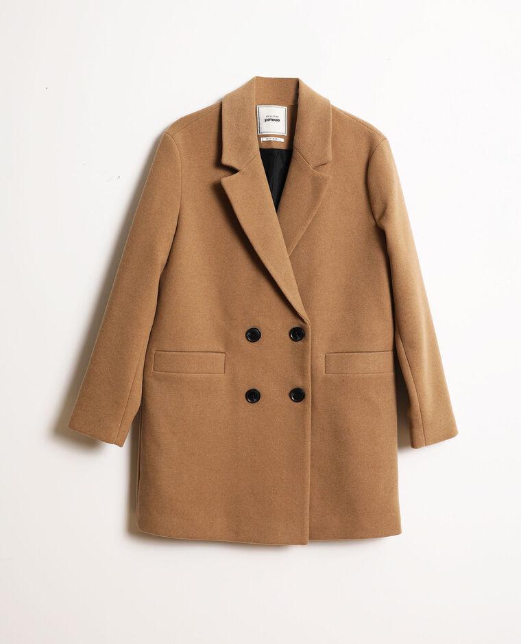 Cappotto in panno di lana cammello - Pimkie
