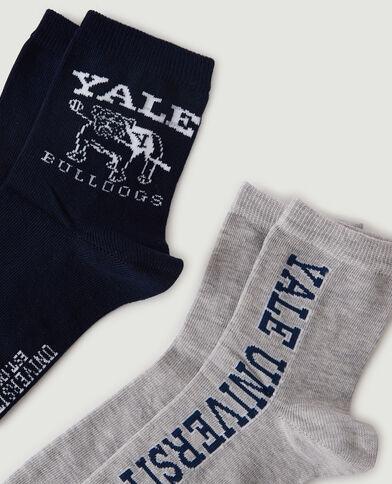 Lotto di 2 paia di calzini YALE nero - Pimkie