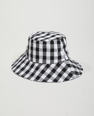 Cappello bob a quadri nero - Pimkie