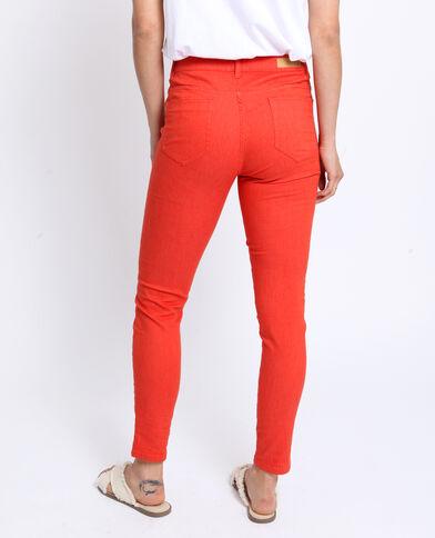 Pantalone push up mid waist arancio