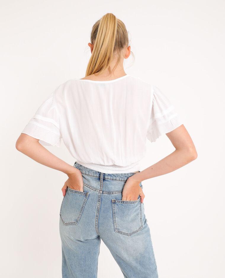 Camicia corta bianco sporco