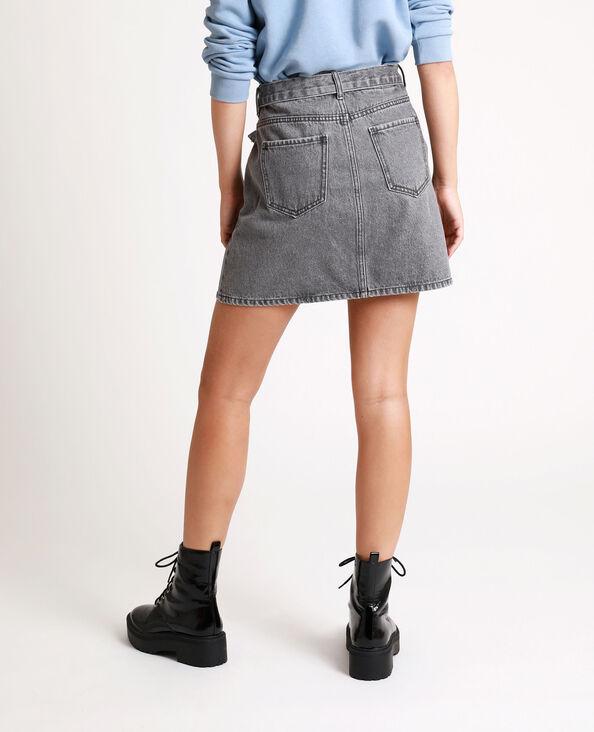 Gonna in jeans con cintura grigio antracite
