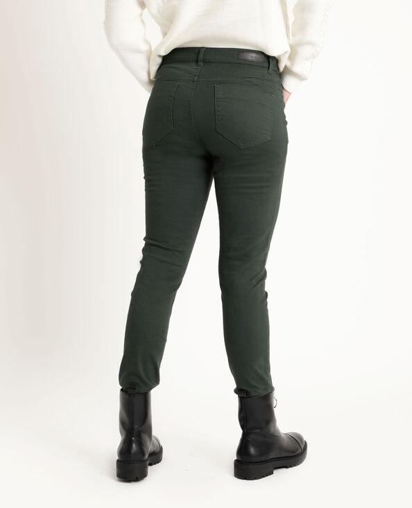 Skinny push up mid waist verde abete