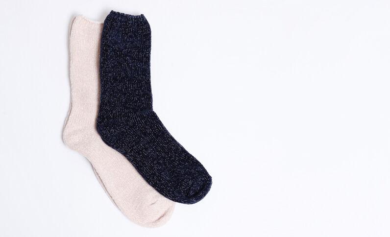 Lotto da 2 paia di calze morbide rosa