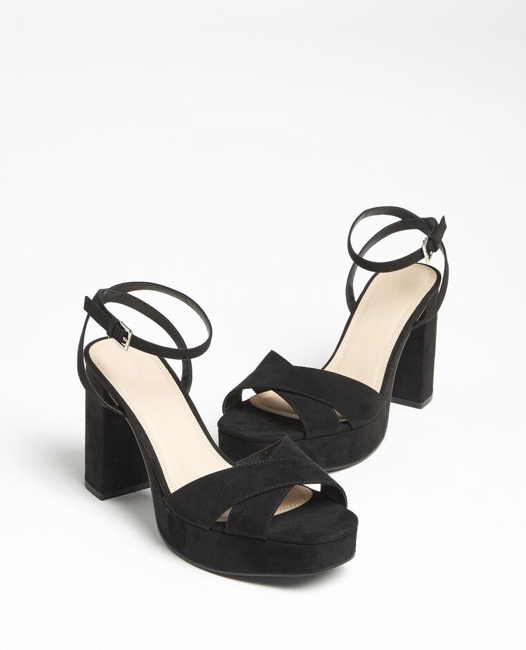Sandali con plateau nero - Pimkie