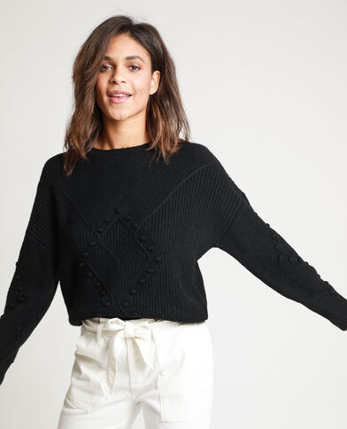 Pull maglia fantasia nero