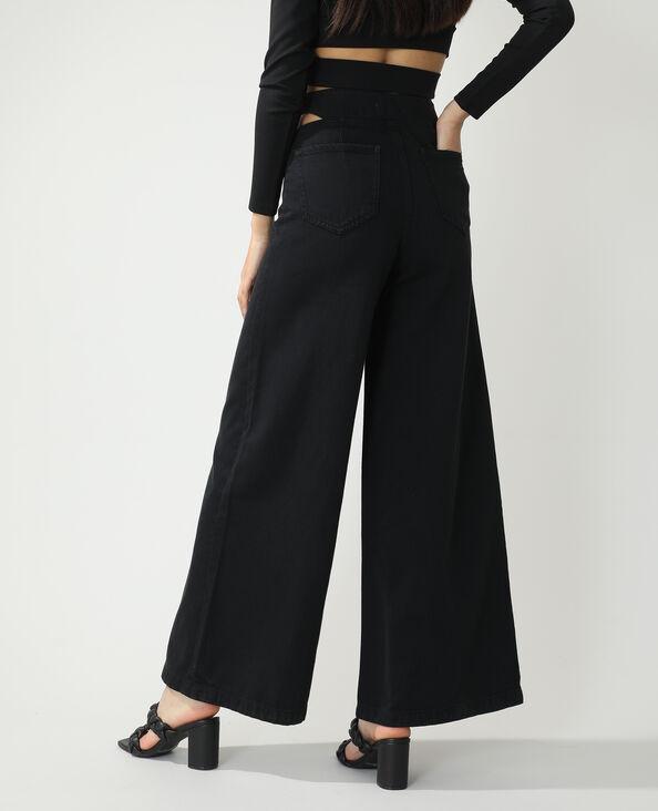 Jeans wide leg high waist con tagli nero - Pimkie
