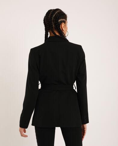 Blazer con cintura nero