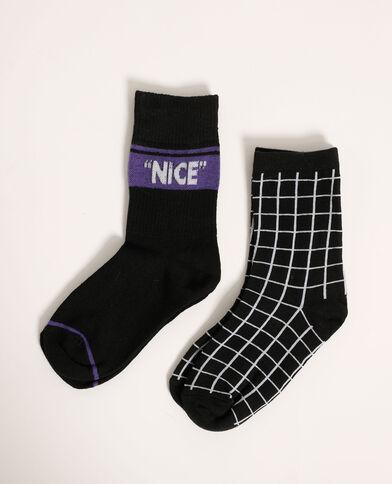 Lotto di 2 paia di calzini nero - Pimkie