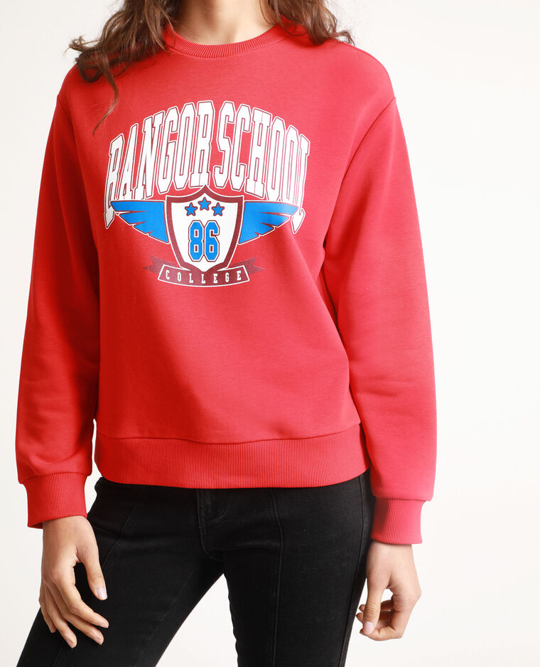 Felpa Bangor School Rosso