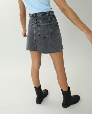 Gonna di jeans grigio antracite - Pimkie