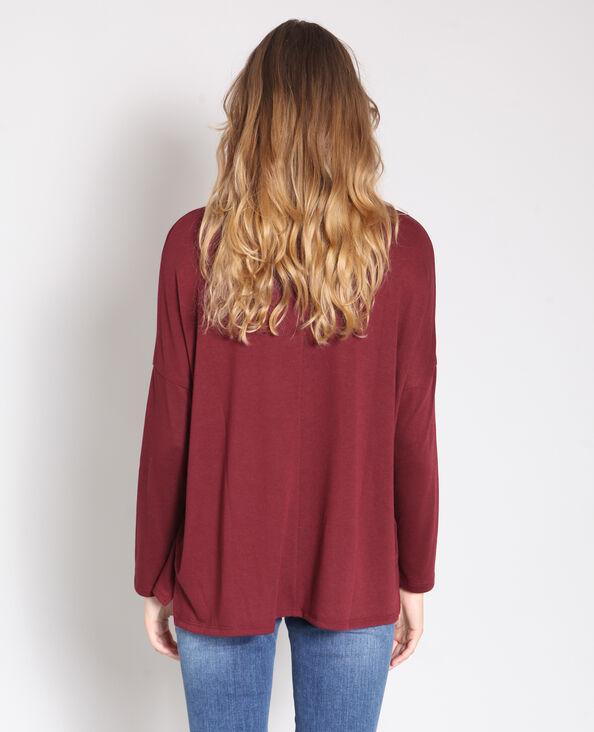 - T-shirt maniche lunghe bordeaux
