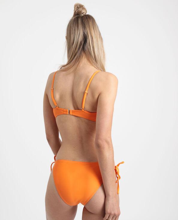 Pezzo sopra di bikini a fascia pesca