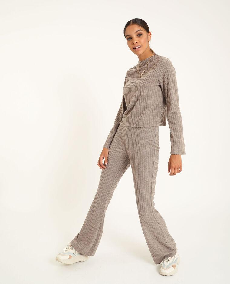Pantalone svasato grigio perla - Pimkie