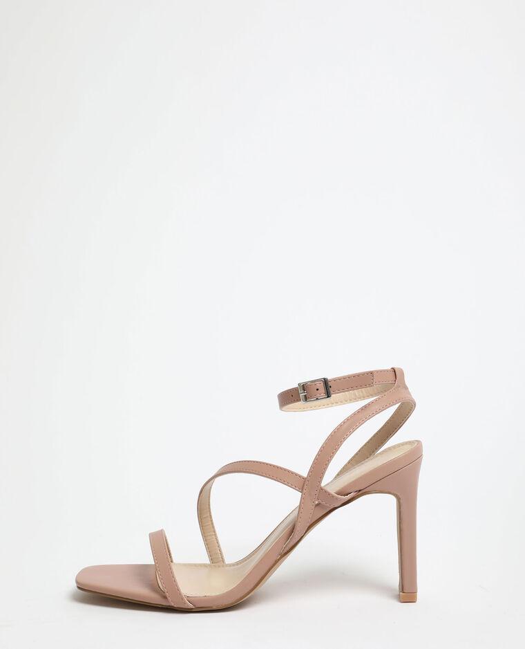 Sandali con tacchi rosa cipria