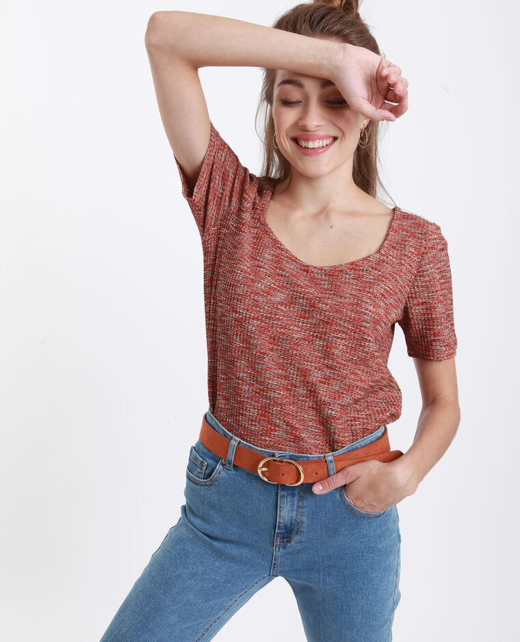 T-Shirt a nido d'ape rosso