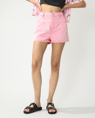Short high waist rosa cipria - Pimkie