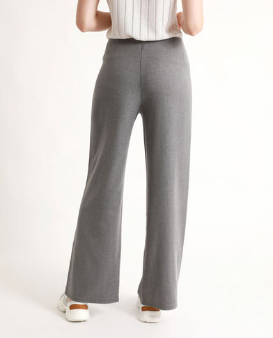 Pantalone con gambe larghe grigio chiné