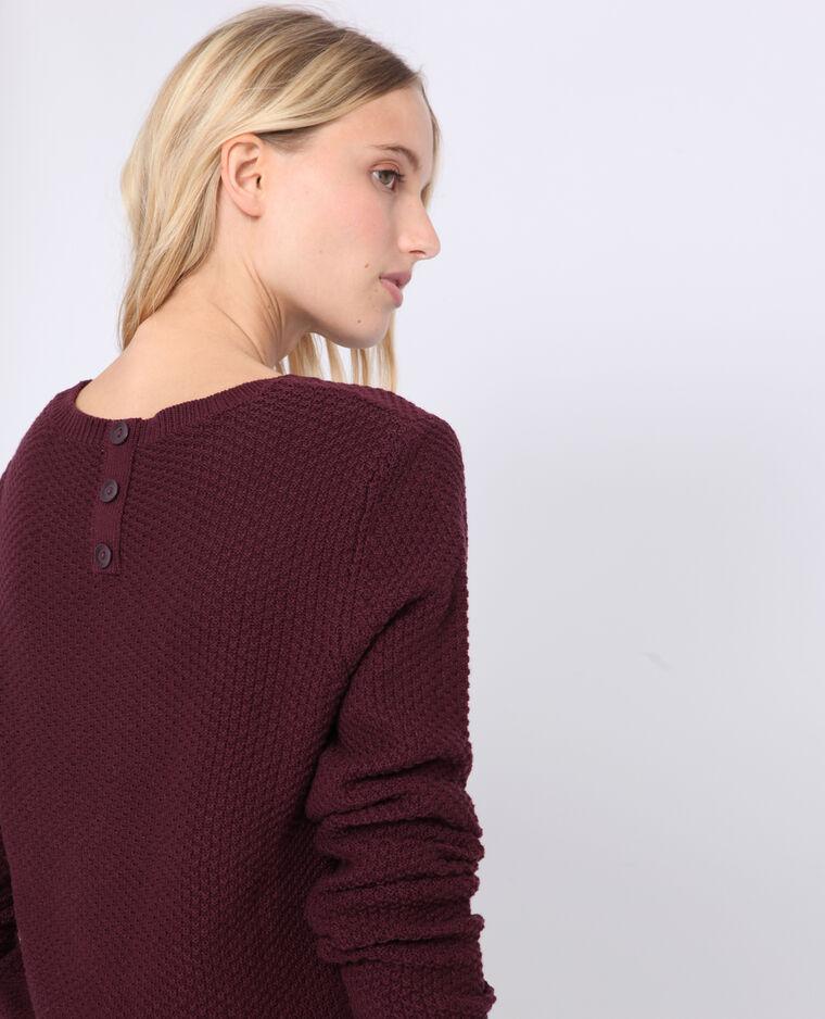 Pull in maglia fantasia bordeaux
