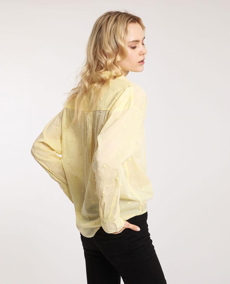 Camicia fantasia giallo