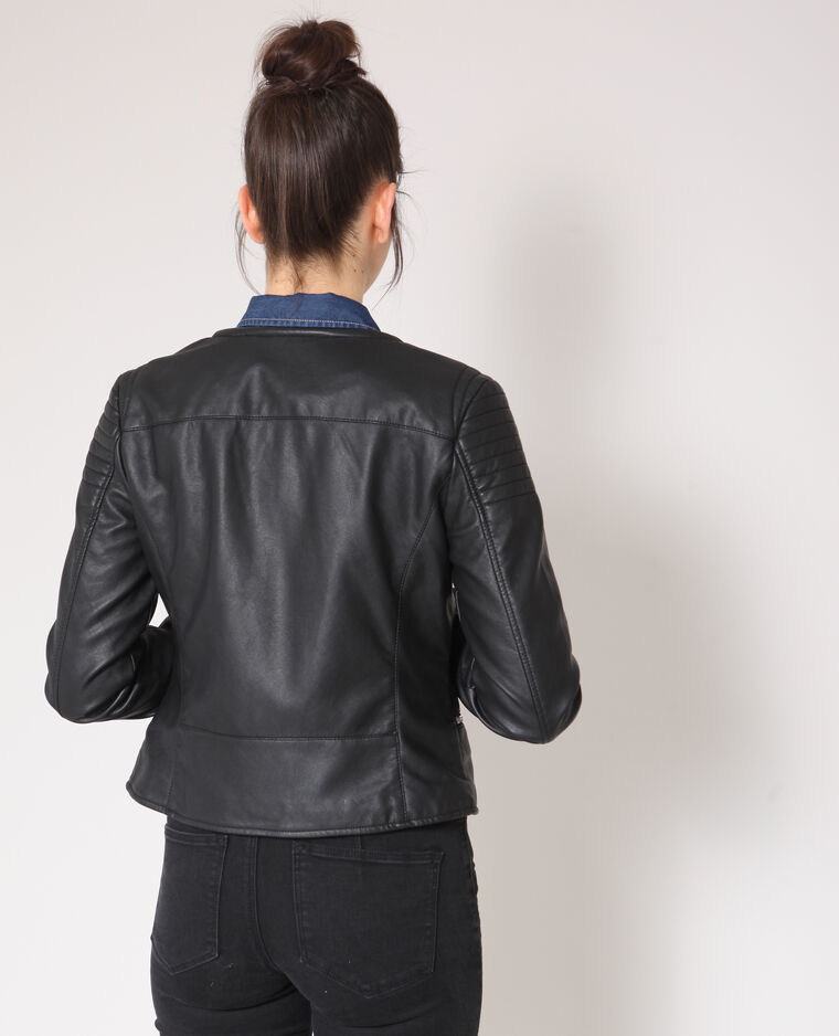 Giacca in similpelle nero