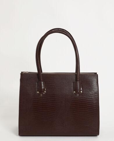 Grande borsa rigida marrone