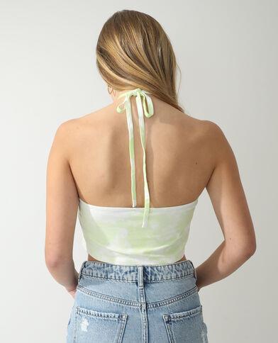 Top con schiena scoperta tie and dye verde - Pimkie