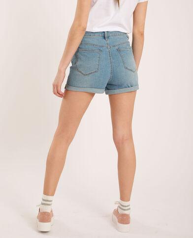 Short di jeans high waist blu delavato - Pimkie