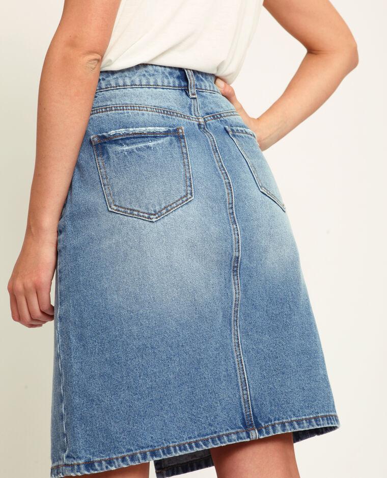 Gonna in jeans blu scuro