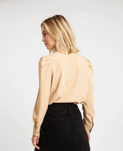 Camicia con tasche beige