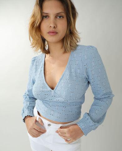 T-shirt traforata blu
