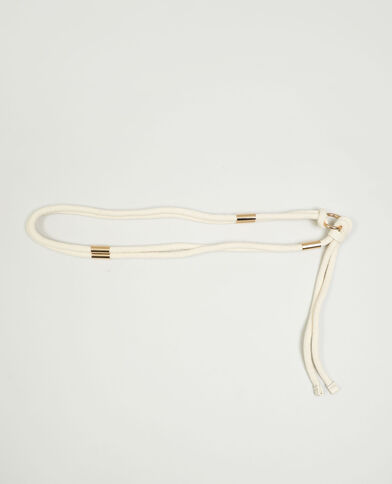 Cintura con cordino beige - Pimkie