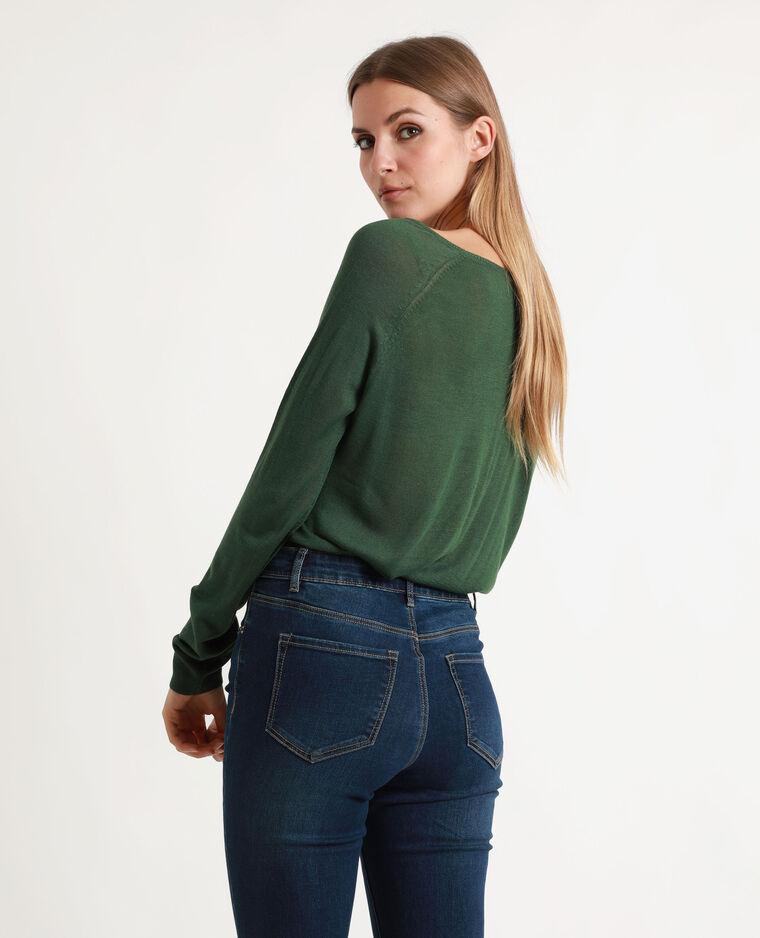 Pull maglia sottile verde