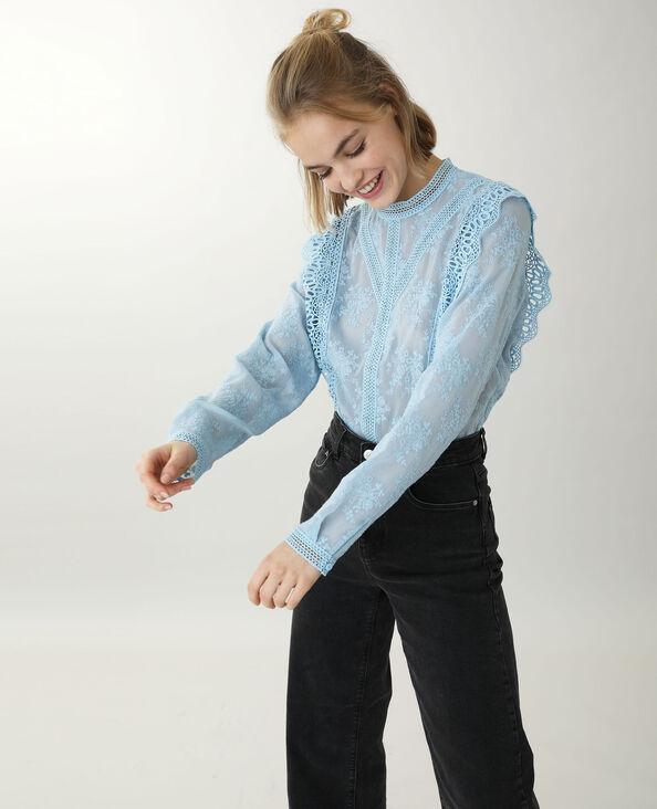 Blusa in pizzo blu - Pimkie