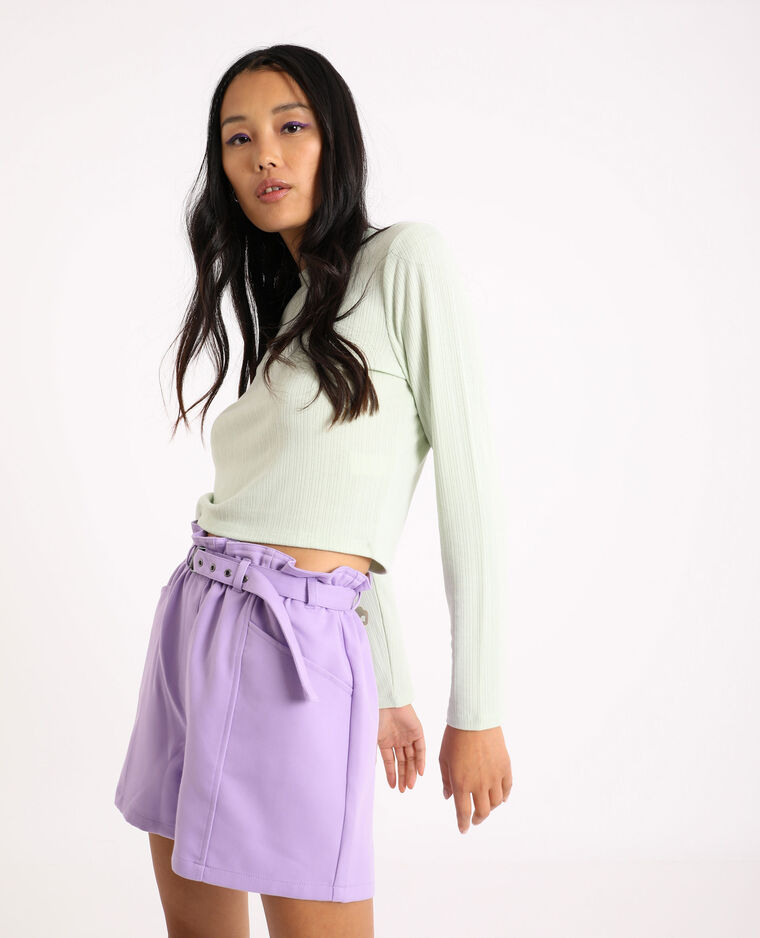 T-shirt cropped verde