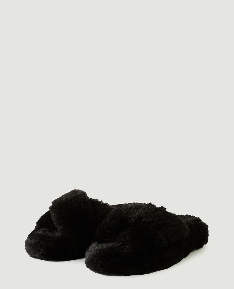Sabot in finto montone nero - Pimkie