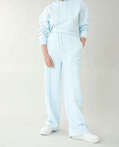 Pantalone da jogging in tessuto felpato blu - Pimkie