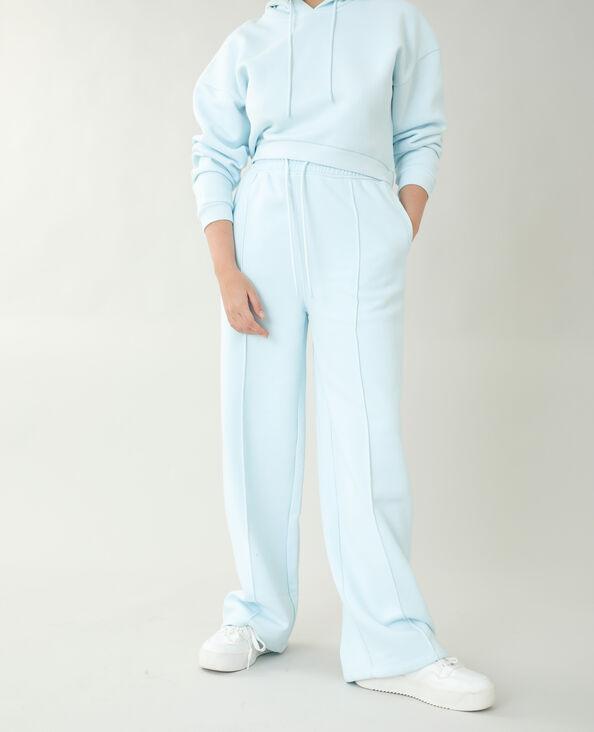 Pantalone da jogging in tessuto felpato blu