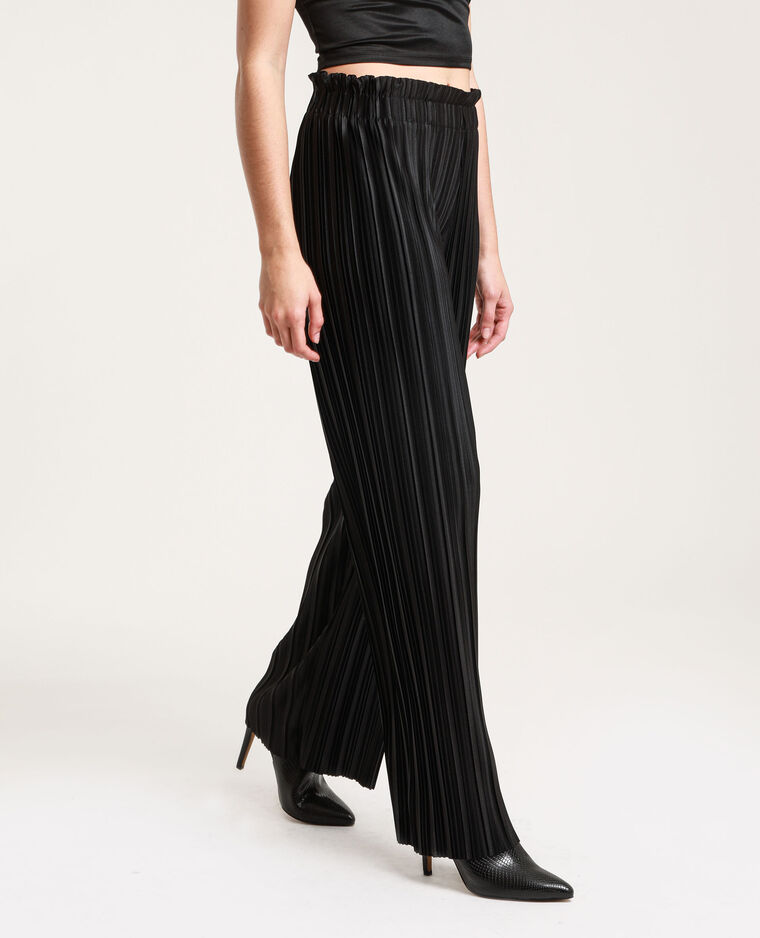 Pantalone plissettato nero